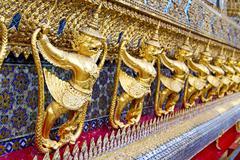 Demon in the temple bangkok Stock Photos