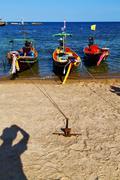 asia in the  kho   bay isle white rope - stock photo