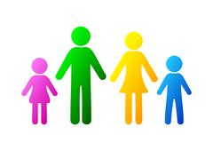 Family icon - stock illustration