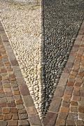 Near mozzate  abstract   pavement of a curch   wall marble Stock Photos