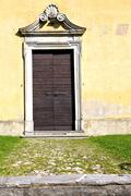 Grass arsago seprio    closed wood    lombardy Stock Photos