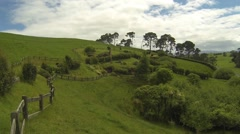 Small hobbit farm Stock Footage