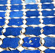 abstract morocco in africa  tile the colorated pavement   backgr - stock photo