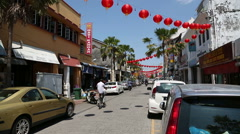 Little India in the George Town, Malaysia Stock Footage