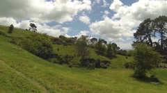Hobbit holes on the hill Stock Footage