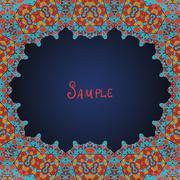Arabian style frame for text Stock Illustration