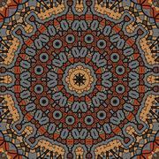 Brown seamless pattern. Background vintage texture vector. Fabric illustration - stock illustration
