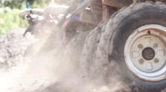 Spinning quad bike wheels Stock Footage