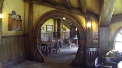 Inside the green dragon inn Stock Footage