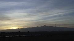 Mount Kenya in the morning sunlight Stock Footage