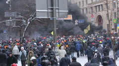 UKRAINE, revolution Stock Footage