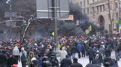 UKRAINE, revolution Stock Footage
