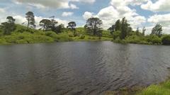 Hobbiton lake Stock Footage