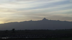 Mt kenya in the early morning light Stock Footage