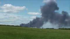 Field Smoke Plume Stock Footage