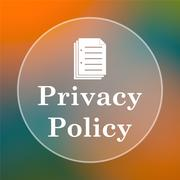 Stock Illustration of Privacy policy icon. Internet button on colored  background..