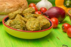 Falafel and other middle eastern ingredients Stock Photos
