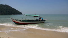 Picturesque bay Monkey Beach, Malaysia Stock Footage
