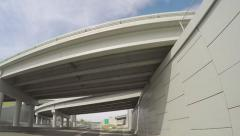 Cool time lapse driving under lots of overpasses Stock Footage