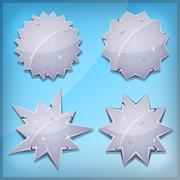 Stone Awards And Seal Icons For Ui Game - stock illustration