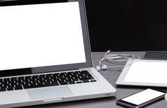 Modern computer devices Stock Photos