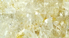 Citrine semigem geode crystals geological mineral isolated - stock footage