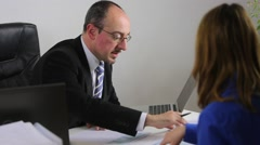Business people working together in office - stock footage
