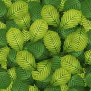 Seamless Spring Hazel Leaves - stock illustration