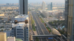 Dubai Sheikh Zayed Road transport skyscraper metro UAE - stock footage
