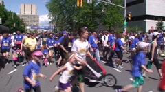 The Tamarack Ottawa Race Weekend Kids marathon. Stock Footage