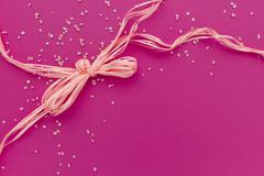 pink card - stock photo