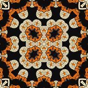 Stock Illustration of Seamless ornate oriental design. Endless mandala. Asian carpet inspired art