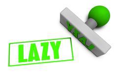 Lazy Stamp - stock illustration