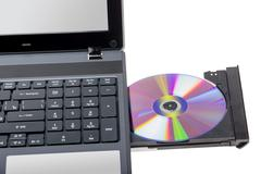 Electronic collection - Laptop with open DVD tray Kuvituskuvat