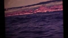 Nova Scotia, Gaspe fishing village - stock footage