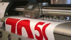 Digital wide format printing Stock Footage