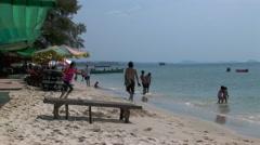 SIHANOUKVILLE/CAMBODIA - FEBRUARY 2010 Serendipity Beach Stock Footage