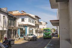 Bus traffic Puerto Vallarta Stock Photos