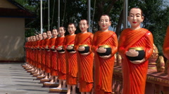 The Wat Krom Buddhist Temple Stock Footage