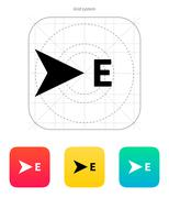East direction compass icon Stock Illustration