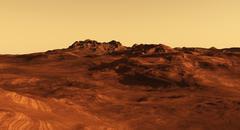 Martian Landscape Illustration - stock illustration