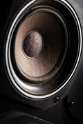 Old speakers Stock Photos