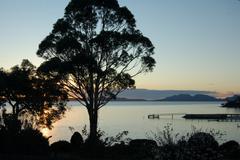 Morning Great Oyster Bay Tasmania Stock Photos