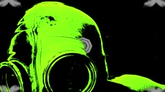 Gas mask and kaleido effect - stock footage