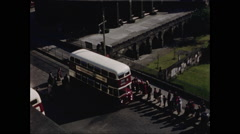 Bus Approaches and Stops in Edinburgh Stock Footage