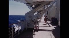 Deck of Queen Elizabeth Cruise Ship Stock Footage