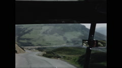 Car View Driving in Scottish Higlands in 1957 - 2 Stock Footage