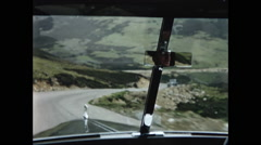 Car View Driving in Scottish Higlands in 1957 Stock Footage