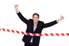 Concept for victory in business Stock Photos
