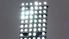 Stadium spotlight - stock footage